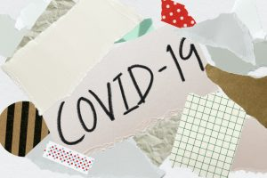 Covid-19 collage paper background